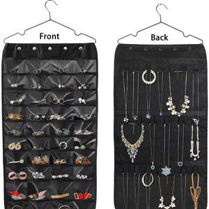 Double Sided Hanging Jewelry Organizer